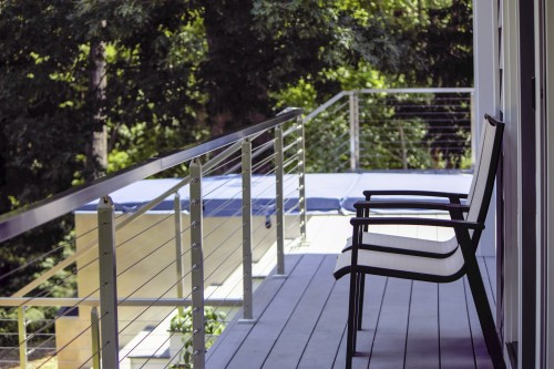stainless steel cable railing long