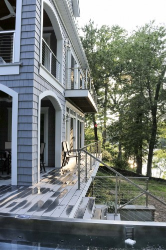 stainless steel cable railing patio