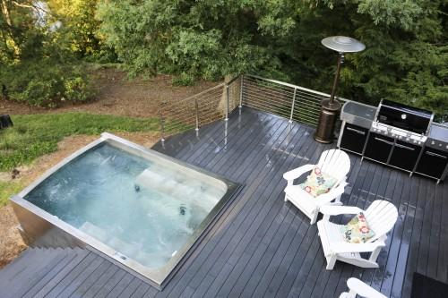 stainless steel cable railing pool