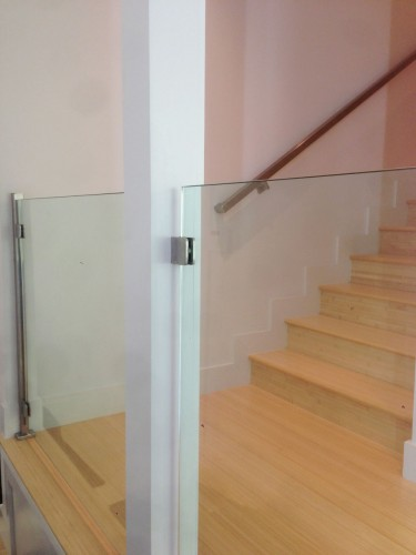 stainless steel glass railing stairs