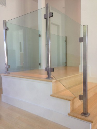 stainless steel glass railing wall
