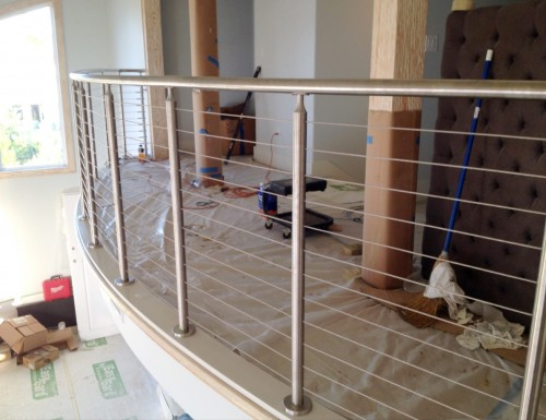 stainless steel cable railing balcony bended