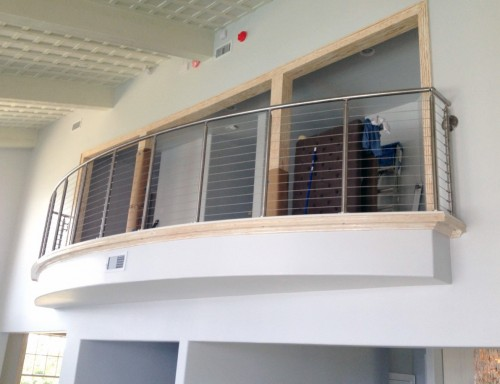 stainless steel cable railing balcony curve