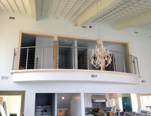 stainless steel cable railing balcony curved
