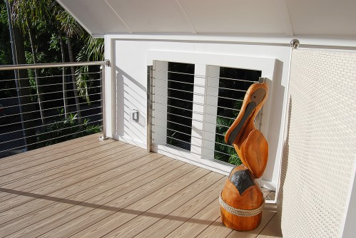 stainless steel square cable railing balcony