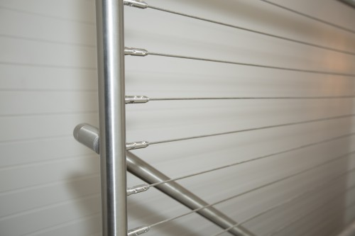 stainless steel cable railing stairway