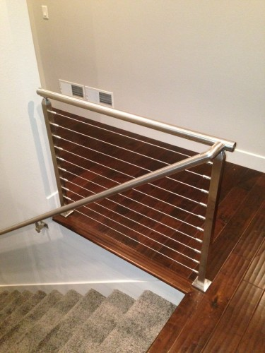 stainless steel cable railing square post base cover