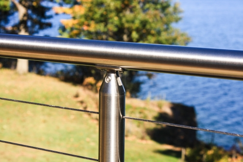 stainless steel cable railing pyramid cone bracket round