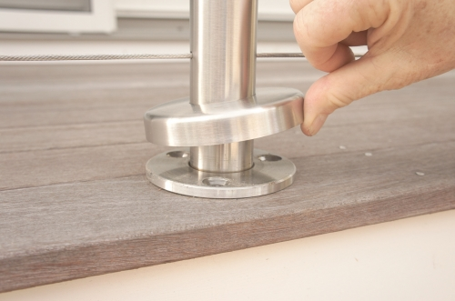 stainless steel cable railing base cover