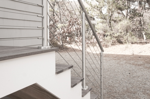 stainless steel cable railing stairs