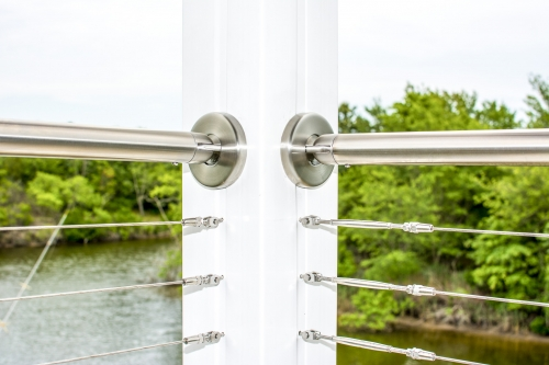 stainless steel cable railing bend