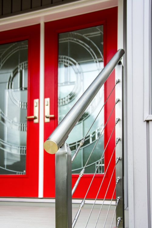stainless steel cable railing entry