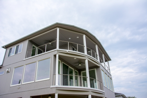stainless steel cable railing house