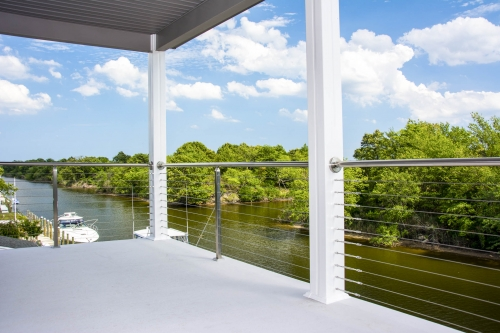 stainless steel cable railing panoramic