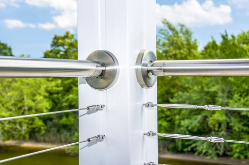 stainless steel cable railing pivot flange
