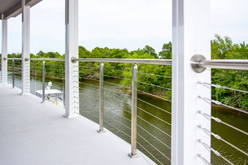 stainless steel cable railing river