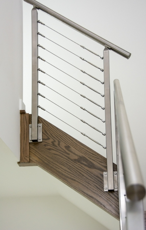 stainless steel cable railing side mounted