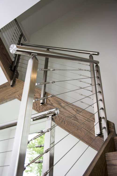 stainless steel cable railing staircase