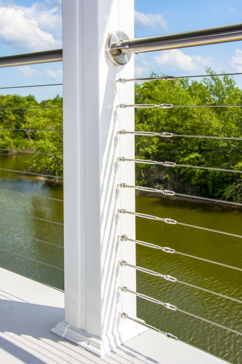 stainless steel cable railing trees