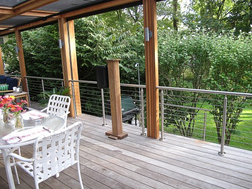 stainless steel cable railing round balcony