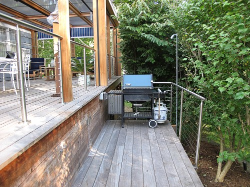 stainless steel cable railing round deck