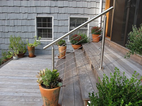 stainless steel cable railing round stairs