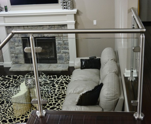 stainless steel glass railing balcony