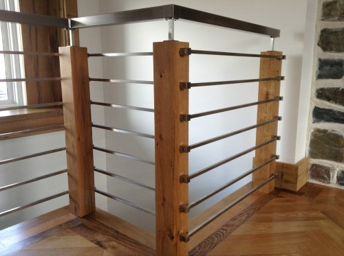 stainless steel railing bar system post