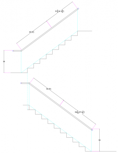 stainless steel bar railing drawing handrail