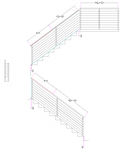stainless steel bar railing drawing