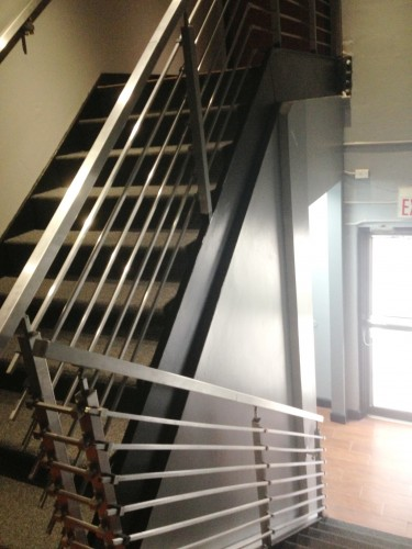 stainless steel bar railing stairs square handrail