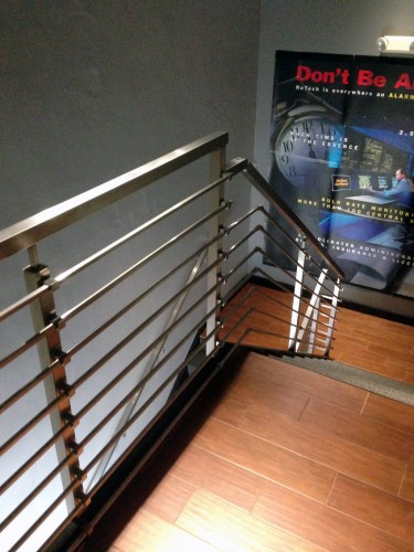 stainless steel bar railing stairs