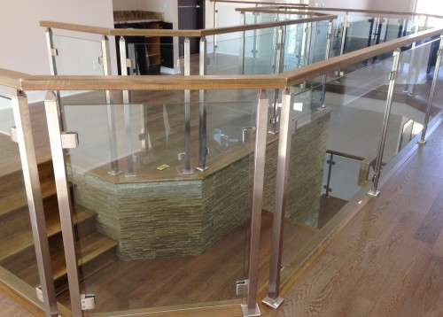 stainless steel glass railing mezzanine front