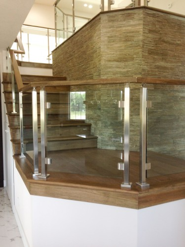stainless steel glass railing mezzanine right