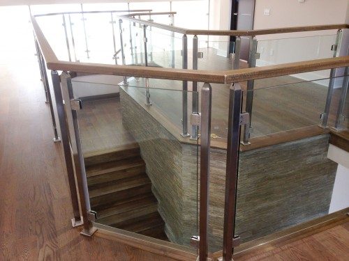 stainless steel glass railing mezzanine