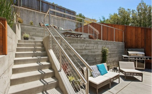 stainless steel cable railing round bay area california