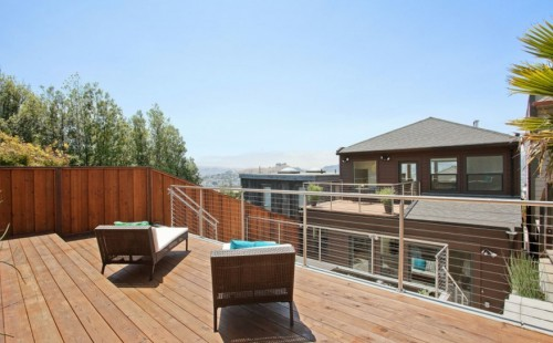 stainless steel cable railing round bay area