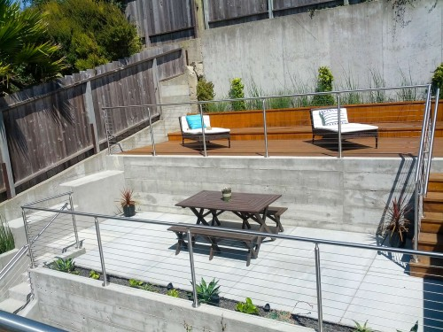 stainless steel cable railing round contemporary