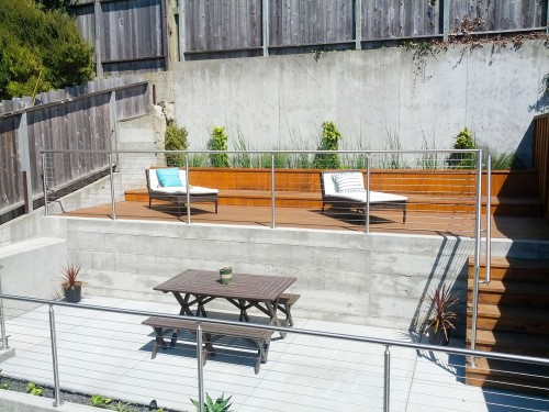 stainless steel cable railing round san francisco california