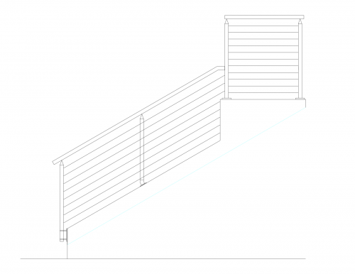 stainless steel cable railing stairs san francisco drawing