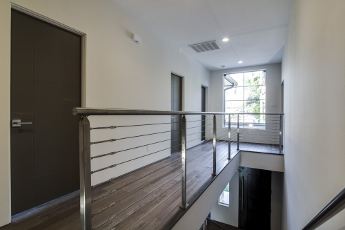 stainless steel cable railing glass