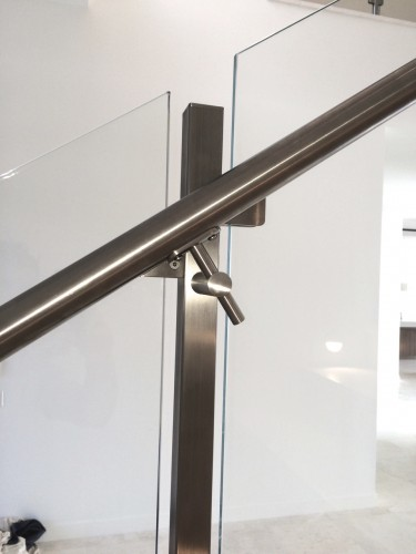 stainless steel glass railing end cap