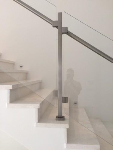 stainless steel glass railing handrail