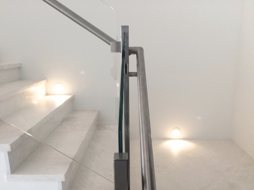 stainless steel glass railing miami