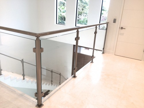 stainless steel glass railing outdoor