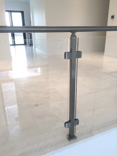 stainless steel glass railing residential