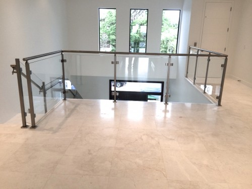 stainless steel glass railing square tube