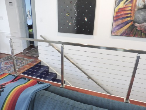 stainless steel cable railing interior