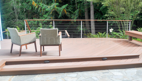 deck seating railing