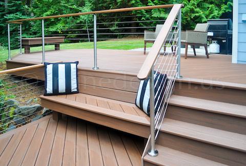 deck stairs handrail